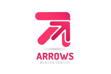 arrow�: Vector icono de la flecha. Flecha abstracta logotipo de la plantilla. Flecha arriba, flecha del cursor icono, puntas de flecha. Flecha marcador y din�mico s�mbolo de la flecha. Arrow aislado. Arrow vector logo. Logotipo de la empresa Flecha