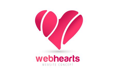 saint valentin coeur: Coeur ic�nes vecteur logo. Logo de coeur, en forme de c?ur. Ensemble notion. Logo ensemble. Logo coeur. Coeur ic�ne. L'amour, la sant� ou le m�decin et les relations symbole. Coeur vecteur logo, cardiaques ensemble ic�nes