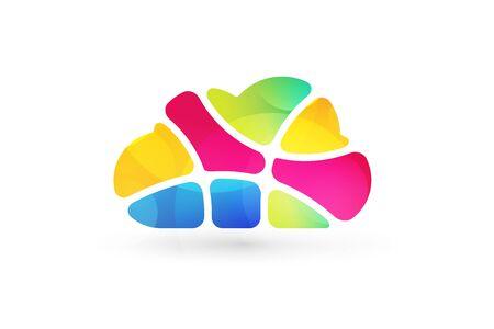 safety net: Abstract net cloud vector logo. Business cloud brand, cloud storage, files safety, sky cloud icon, clouds technology, backup, app, web design studio.Cloud network. Antivirus cloud logo.Clouds computer