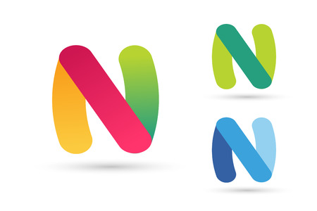 brand name: N letter vector. N logo icon template. N symbol silhouette. N isolated icon, N line style letter, N logotype, N logotype, N modern symbol, N company name brand. N letter vector company brand name