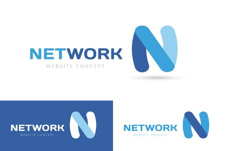 font design: N letter vector. N logo icon template. N symbol silhouette. N isolated icon, N line style letter, N logotype, N logotype, N modern symbol, N company name brand. N letter vector company brand name