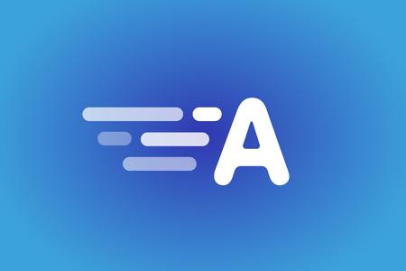 looped shape: Fast line B letter line .