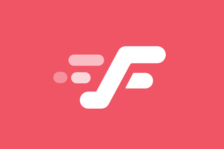 sport icon: Fast line F letter line .  Illustration