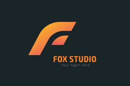 lion face: Fox or lion face  vector template.