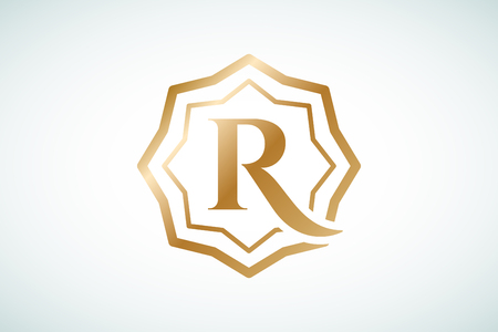 shield: Plantilla Real vector logo. Logo Hotel. S�mbolo de Reyes. Crestas Royal monograma. Hotel Reyes Top. Letra R logotipo. Hotel Royal, R Premium boulder, Moda R logotipo, logotipo de Abogado. Corona. estilo moderno de la vendimia