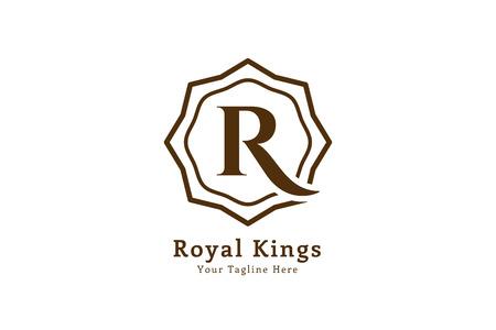 Royal logo vector template. Hotel logo. Kings symbol. Royal crests monogram. Kings Top hotel. Letter R logo. Royal hotel, Premium R brand boutique, Fashion R logo, Lawyer logo. Vintage modern style