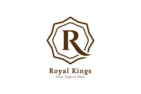 arabische letters: Royal logo vector template. Hotel logo. Kings symbool. Royal toppen monogram. Kings Top hotel. Letter R logo. Royal Hotel, Premium R merk boutique, mode-R logo, Advocaat logo. Vintage moderne stijl