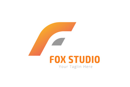 fox: Fox or lion abstract face logo vector template. Lion or Fox  logo. Lion or Fox symbol. Modern flat monogram. Developers logo. Letter F style. Coding, website, lion, fox. F brand, F logo, F icon