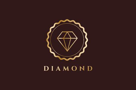 diamante: Logotipo del diamante viejo de la vendimia. Diamond icono monograma. Vintage de diamantes de estilo retro. Etiquetas de joyería, cintas, decoración, ornamento. Calidad premium. Logo Diamond. Estilo retro. Royal, corona, el abogado, el hotel, la marca
