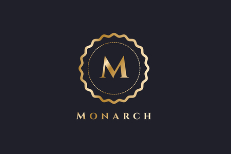 luxury template: Royal logo vector template. Hotel logo. Kings symbol. Royal crests monogram. Kings Top hotel. Letter M logo. Royal hotel, Premium M brand boutique, Fashion M logo, Lawyer logo. Crown. vintage modern style