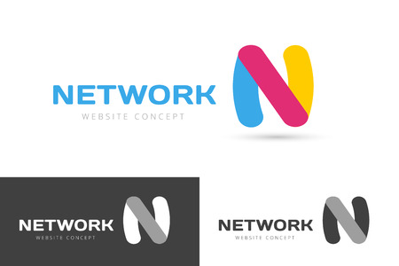 N: N letter vector. N  icon template. N symbol silhouette. N isolated icon, N line style letter, N , N , N modern symbol, N company  brand. N letter vector monogram