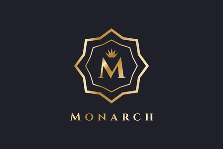 m hotel: Royal  vector template. Hotel . Kings symbol. Royal crests monogram. Kings Top hotel. Letter M . Royal hotel, Premium M brand boutique, Fashion M , Lawyer . Crown. vintage modern style Illustration