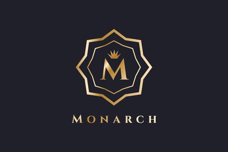 royal person: Royal  vector template. Hotel . Kings symbol. Royal crests monogram. Kings Top hotel. Letter M . Royal hotel, Premium M brand boutique, Fashion M , Lawyer . Crown. vintage modern style Illustration