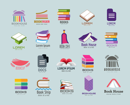 Book vector template set. Books . Book open. School library books. Education, university, college symbol or knowledge, books stack, publish, page paper. Book icons. Isolated. Books vector icons set