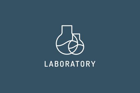 laboratory equipment: Laboratory equipment vector logo. Lab icon logo isolated on white. Chemicals, lab logo, laboratory equipment, science logo icon, technology logo, science logo. laboratory glassware logo. Testing glass logo Illustration