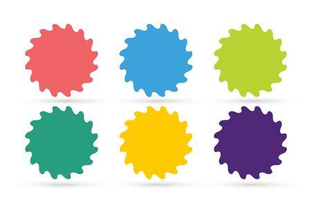 star logo: Abstract flower or star vector icons set. Star or flower icon. Vector star, nature flower silhouette Sun astrology symbol. Star logo isolated. Star icon logotype. Sun star or flower vector logo Illustration