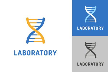 adn humano: Logo vector de ADN. Biología Tecnología icono vector de ADN. Signo laboratorio de ADN. Símbolo de la cadena de ADN de tecnología aislado. Silueta abstracta ADN. Logo Laboratorio icono Vectores
