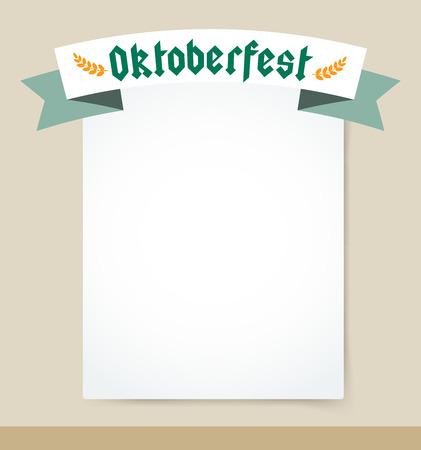 beer fest: Oktoberfest celebration vector background poster. Oktoberfest vector illustration background with text. Beer Oktoberfest German festival vector background. Keg of beer, bottle beer box