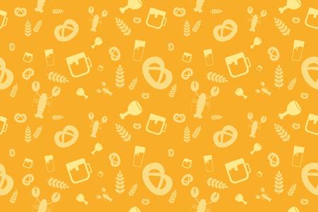 Patrón de vacaciones Oktoberfest sin fisuras. Antecedentes Vector Partido cerveza alemana Diseño inconsútil del Oktoberfest. Modelos inconsútiles de fiesta de la cerveza Oktoberfest. Modelo de la cerveza Oktoberfest festival de fondo Foto de archivo - 45352345