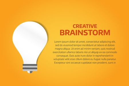 creative concept: Bulb lamp light idea vector background illustration. Lamp creative idea concept. Braistorm concept with light bulb lamp isolated on background. Lamp, idea, creative, concept, design, vector Illustration