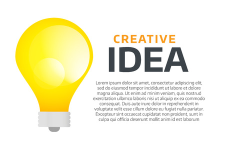 lamp power: Bulb lamp light idea vector background illustration. Lamp creative idea concept. Braistorm concept with light bulb lamp isolated on background. Lamp, idea, creative, concept, design, vector Illustration