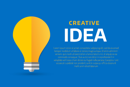 creative idea: Bulb lamp light idea vector background illustration. Lamp creative idea concept. Braistorm concept with light bulb lamp isolated on background. Lamp, idea, creative, concept, design, vector Illustration