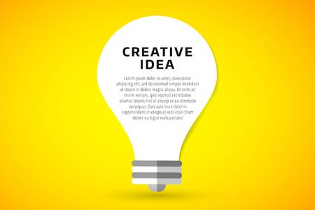 concepto: L�mpara bombilla de la idea de fondo ilustraci�n vectorial. L�mpara concepto de la idea creativa. Concepto Braistorm con l�mpara bombilla aislada en el fondo. L�mpara, idea, creativo, concepto, dise�o, vector