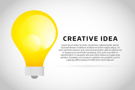 lamp power: Bulb lamp light idea vector background illustration. Lamp creative idea concept. Braistorm concept with light bulb lamp isolated on background. Lamp, idea, creative, concept, design, vector Illustration
