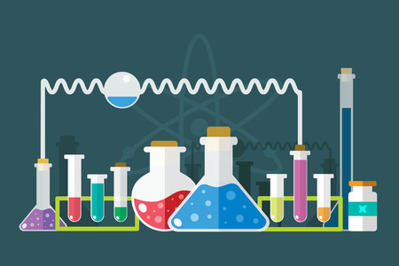 Science lab icons isolated. Science vector icons set. Education, laboratory lab icons, science icons, lab equipment. Lab glasses symbols, atom, flasks, chemistry vector icons. Technology vector icons. Virus, medical icons
