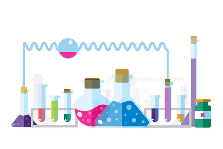 molecular biology: Science lab icons isolated. Science vector icons set. Education, laboratory lab icons, science icons, lab equipment. Lab glasses symbols, atom, flasks, chemistry vector icons. Technology vector icons. Virus, medical icons