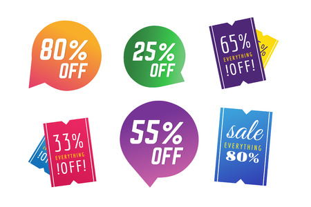 Sale, Off vector tags. Sale vector and Sale label icons. Shop discount sale. Free offer, promotion, promo, market. Sale vector sign. Sale vector icons silhouette. Sale banner, sticker, label, circle paper coupon