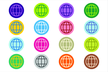 logo terre: Logo Globe Terre. Globe ic�ne. Vector globe. Globe illustration. Silhouette Globe. Abstract globe. Globe color�. Ic�nes Globe fix�s. Orbit globe. Globe �toiles. Ic�ne de globe terrestre et de la terre. Globe logo de la technologie