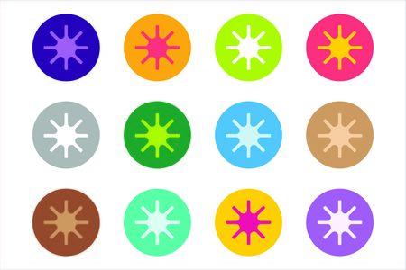 star logo: Sun burst star or snowflakes vector logo icon set. Sun, star, summer, nature, sky, summer. Sunshine star logo. Sun icons. Sun logo. Nature sun star. Star vector icons logo. Star silhouette