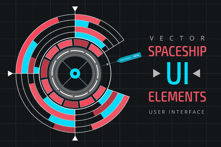 elements web: UI infographic interface web elements. Futuristic space thin user interface. Web interface elements, UI elements, UI design, UI vector icons. Game target navigation interface technology design UI flat elements