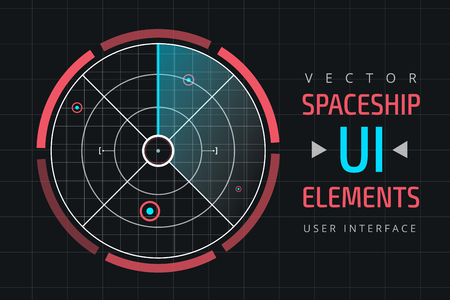 user interface: UI infographic interface web elements. Futuristic space thin user interface. Web interface elements, UI elements, UI design, UI vector icons. Game target navigation interface technology design UI flat elements