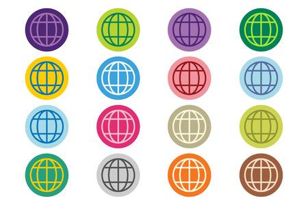 Globe Earth logo. Globe icon. Globe vector. Globe illustration. Globe silhouette. Abstract globe. Colored globe. Globe icons set. Orbit globe. Star globe. Globe earth icon and earth. Globe technology logo