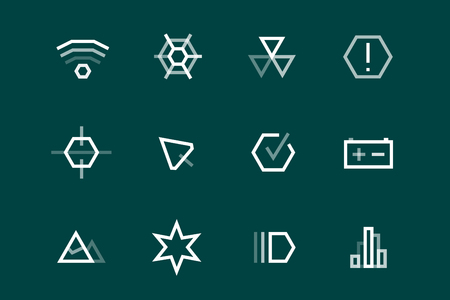 statistics: Outline vector UI technology icons set. Web net vector ui hud gui user interface for web and mobile. Application, web interface, GUI interface, UI interface icons, HUD web interface icons. Simple flat web icons
