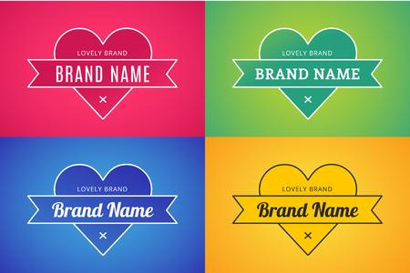 together: Heart icon vector logo bundle set. Heart logo heart shape. Togetherness concept. Together logo. Heart logo. Love, health and brand relations. Heart logo heart together. Mother care, union, charity