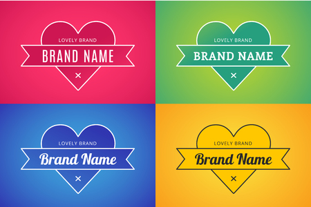 Heart icon vector logo bundle set. Heart logo heart shape. Togetherness concept. Together logo. Heart logo. Love, health and brand relations. Heart logo heart together. Mother care, union, charity