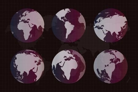 earth space: World vector map. Globe Earth texture map. Globe vector map view from space. Globe Earth silhouette. Technology background, geography world vector earth. Globe silhouette, world map, wallpaper earth map, earth texture