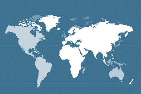 Vecteur mondiale carte. Carte de texture Globe Terre. Globe vecteur carte de l'espace. Silhouette Globe Terre. Technology background, vecteur de monde géographie terre. Globe silhouette, carte du monde, la carte papier peint de la terre, de la texture de la terre Banque d'images - 45585300