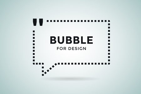 citing: Quote blank template. Quote bubble. Empty template. Quote design, quoting box, text sign reference, paper information template. Quote form. Bubble template vector set. White quote blank icon isolated