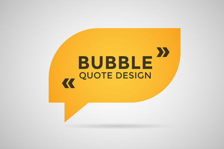 mention: Quote blank template. Quote bubble. Empty template. Quote design, quoting box, text sign reference, paper information template. Quote form. Bubble template set. Yellow quote blank icon isolated