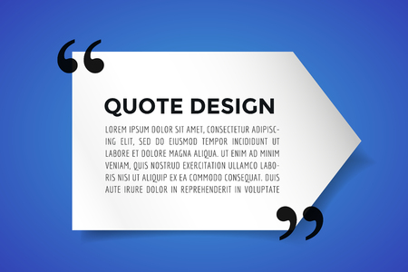 reference: Quote blank template. Quote bubble. Empty template. Quote design, quoting box, text sign reference, paper information template. Quote form. Bubble template vector set. Blue quote blank icon isolated