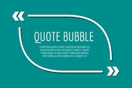 空のテンプレートを引用します。バブルを引用します。空のテンプレート。デザイン、ボックス、テキスト記号参照、紙情報のテンプレートを引用  イラスト・ベクター素材
