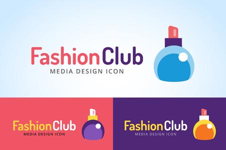 perfumery concept: Perfume bottle sign icon logo. Glamour perfume logo symbol isolated. Vector fashion logo icon. Spa, sales, shopping, perfume bottle logo Illustration