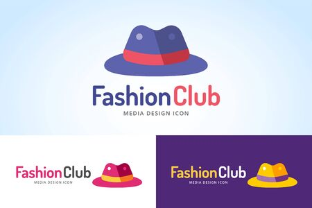 hat: Shopping hat icon logo. Hat isolated on white background. Shopping, sale, discount, shop or store web element. Company hat logo. Shopping vector bag icon. Black friday. fashion logo Illustration