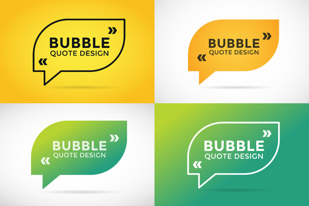 reference: Quote blank template. Quote bubble. Empty template. Quote design, quoting box, text sign reference, paper information template. Quote form. Bubble template vector set. White yellow quote blank icon isolated Illustration