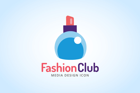 perfumery concept: Perfume bottle sign icon. Glamour perfume symbol isolated. Vector fashion icon. Spa, sales, shopping, perfume bottle. Fashion shop sale icon. Vector shop, sale coupons Illustration