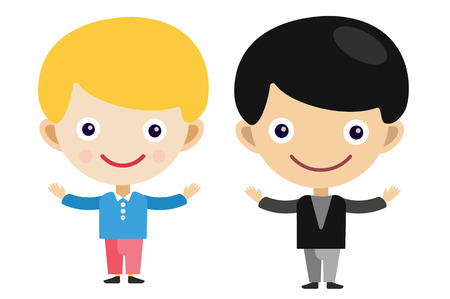 boys: Blonde boy cartoon vector boys in different costumes. Boys characters countries of the world, in national costumes. Vector cartoon boys. Kid boys isolated. Children vector people. Vector kids, teens, boys silhouette